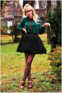 Vintage-skirt-romwe-blouse