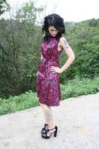 magenta Marc by Marc Jacobs dress - navy Etro sandals