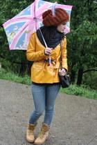 bubble gum umbrella Fulton accessories - gold Wrangler boots