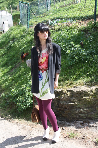 asos shoes - Diane Von Furstenberg dress - Elie Tahari blazer - vintage bag - Ca