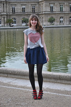 navy etam skirt - heather gray Pimkie t-shirt