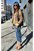Zara blouse - Zara jeans - Mango jacket - Gucci bag - Mango sunglasses