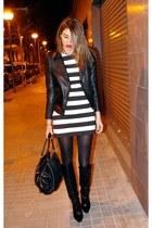 Zara boots - Zara dress - Zara jacket - Dolce & Gabbana bag