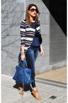 Zara coat - Zara shoes - Zara jeans - balenciaga bag - Vogue sunglasses