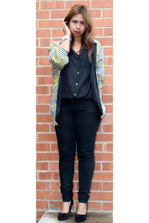 asos blouse - H&M jeans - asos heels