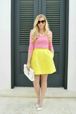 JCrew sweater - Jcrew skirt - shoemint heels