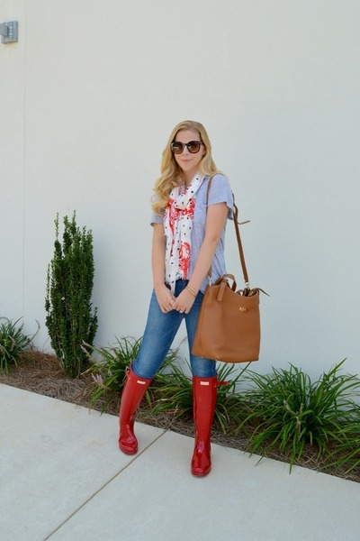 Hunter boots - GiGi New York bag