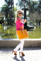 Michael Kors bag - H&M blazer - house of harlow sunglasses