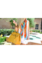 printed scarf Mimi Boutique scarf - mustard handbag Mimi Boutique bag