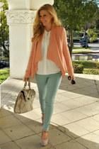 BCBG blazer - Paige jeans - shoemint heels