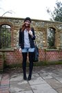 Black-h-m-blazer-white-h-m-blouse-blue-h-m-shorts-black-zara-shoes-black