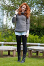 Black-yesstyle-boots-gray-yesstyle-sweater-blue-topshop-shorts-silver-phil