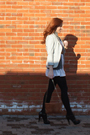 White-zara-dress-gray-h-m-cardigan-silver-h-m-blazer-black-zara-shoes-bl