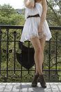 White-veromoda-dress-gray-asos-boots