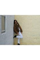 H&M coat - Steve Madden boots - H&M jeans - Urban Outfitters shirt - Gap belt
