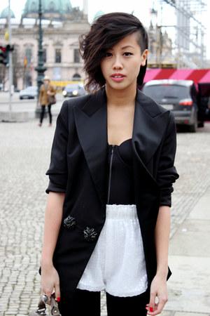 lanvin blazer - AVANTGARDE shorts - H&M bra