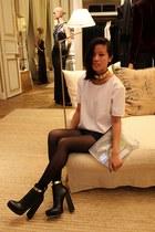 black Alexander Wang boots - white H&M Trend shirt