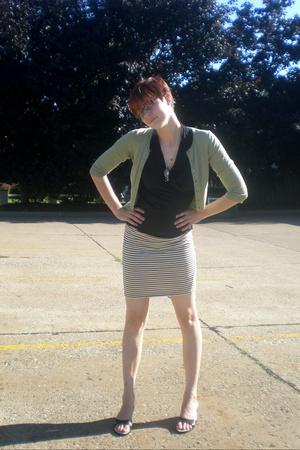 Express sweater - Gap top - vintage skirt - Nine West shoes