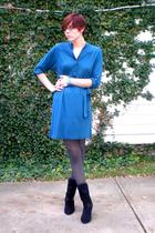 Gap dress - tights - Connie shoes - bracelet