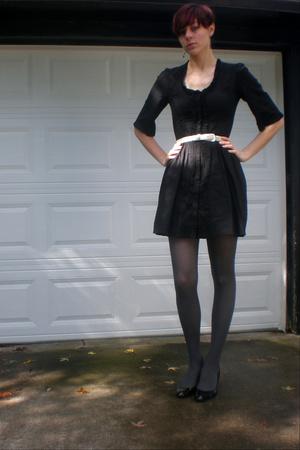 Charlotte Russe dress - belt - Target tights - shoes