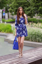 blue Imomoi dress - blue VJ-style bag - black Zara sandals
