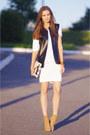 Ivory-glamorous-dress-black-diy-vest