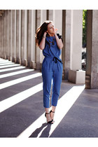 blue vjstyle romper - black Zara sandals