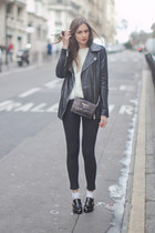 black Chicwish shoes - black asos jeans - black Zara jacket