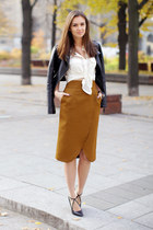 burnt orange pencil skirt Be Trendy skirt