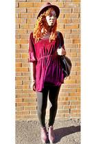 crimson trapeze velvet Missguided dress