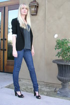 Forever 21 blazer - top - Rock & Republic jeans - simply vera wang shoes - Forev