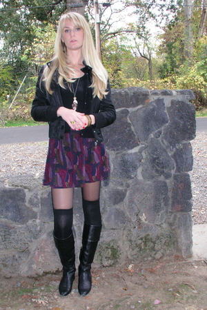 Forever 21 jacket - skirt - Nine West shoes - calvin klein stockings - Nordstrom