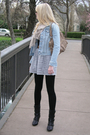 Black-forever-21-boots-gray-dress-blue-old-navy-jacket-beige-michael-kors-