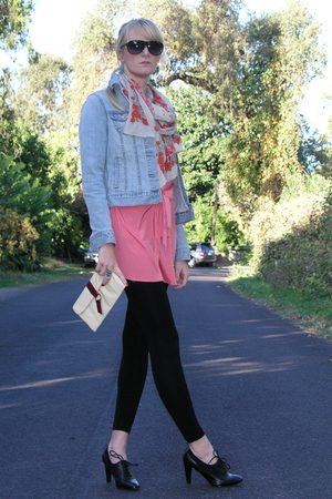 Target top - Old Navy jacket - Ellen Tracy shoes - Forever 21 scarf - vintage pu