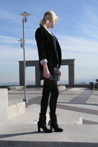 black Aldo boots - black DKNY tights - gray Pink Rose skirt - black Target t-shi