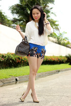 dog print romwe shorts - snake print Wow Them Boutique heels