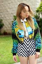 jacket H&M x Versace jacket - lita Jeffrey Campbell boots