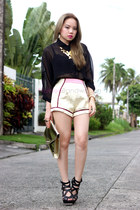 metallic pinkaholic shorts
