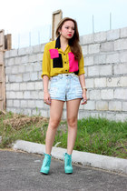 polo pinkaholic top - boots luxury mall boots - denim shorts pinkaholic shorts