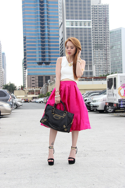 bouffant skirt pinkaholic skirt - cropped pinkaholic top