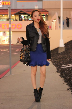 frill skirt pinkaholic fashion shoppe skirt - grey shirt PERSUNMALL t-shirt