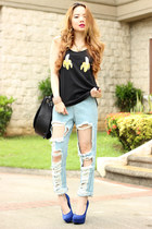 banana top pinkaholic top - pinkaholic jeans