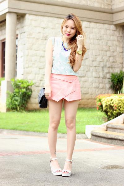 origami shorts Plush clothing shorts - swan print Plush clothing top