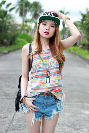 top Style2Go top - denim shorts OASAP shorts