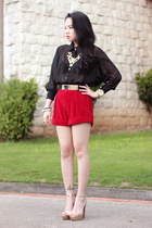 velvet romwe shorts