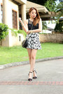 Heels-zara-shoes-floral-papaya-clothing-skirt-black-stylequench-top