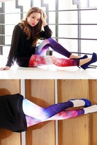 galaxy pinkaholic leggings - sheer pinkaholic top