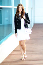 Mango jacket - asos dress - Rebecca Minkoff bag - sam edelman sandals
