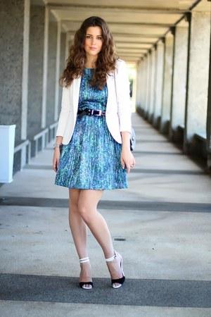 Zara dress - Zara blazer - Zara bag - Sportsgirl belt - asos heels