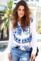 asos blouse - asos jeans - Zara bag - asos sunglasses - asos heels